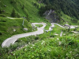 Passo Fedaia hairpins