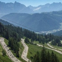 Passo Gardena during Sellaronda Bikeday