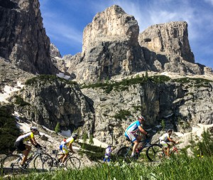 Passo Gardena with the Sella massif