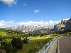 While climbing the Passo Sella remember to look behind you for some terrific views