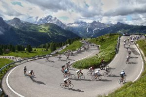 The Passo Sella during Maratona dles Dolomites