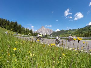Passo Campolongo descent towards Corvara