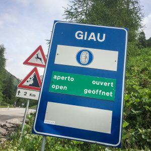 Passo Giau roadsign
