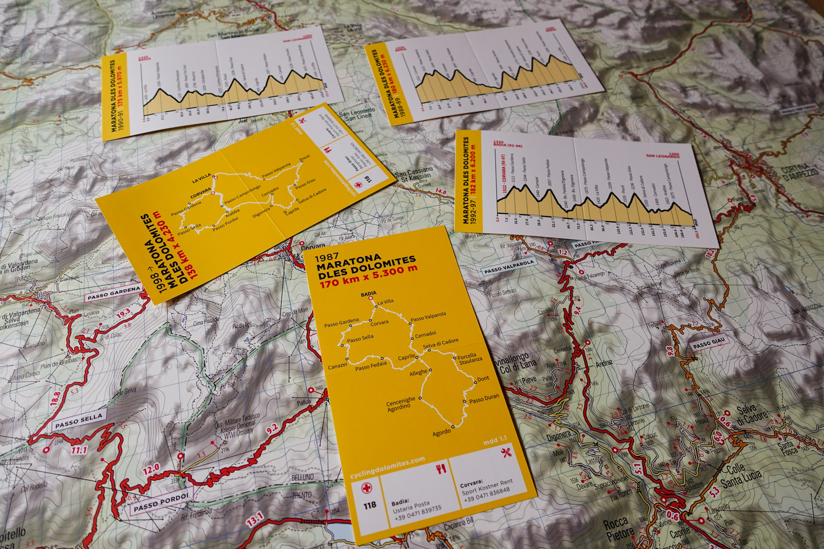 Dolomites cycling map on